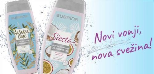 Geli za prhanje Subrina: novi vonji in nova svežina