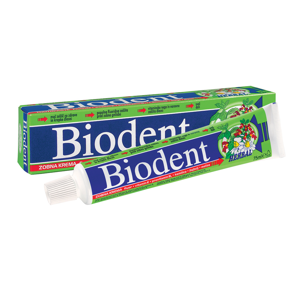Biodent zobna krema HERBAL 75ml